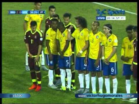 Brasil 2 Venezuela 1 (Relato Matias Canillan)   Copa America 2015