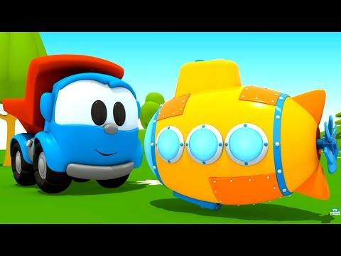 Мультфильм Грузовичок Лева - Мультики про машинки - Подводная лодка