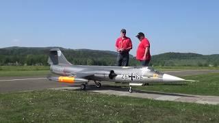 RARE CF-104 CANADAIR RCAF and F-104 GERMAN AIRFORCE HUGE RC TURBINE JETS