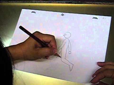 作画技術: 横歩きの作画(紙での作業)