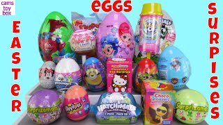 Chocolate Easter Surprise Eggs Openng Toys Surprizamals Pikmi SHopkins Trolls Hatchimals