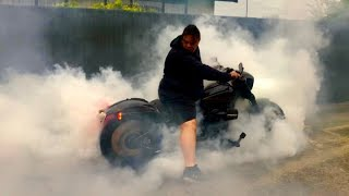 Harley-Davidson FXSB Breakout Exhaust Sound (Akira from Japan)