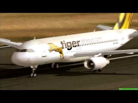 [HD] FS2004 - Tiger Airways Leaves Singapore
