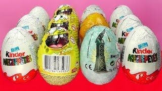 12 Surprise Eggs Kinder Surprise Cars 2 Thomas Spongebob Lion King