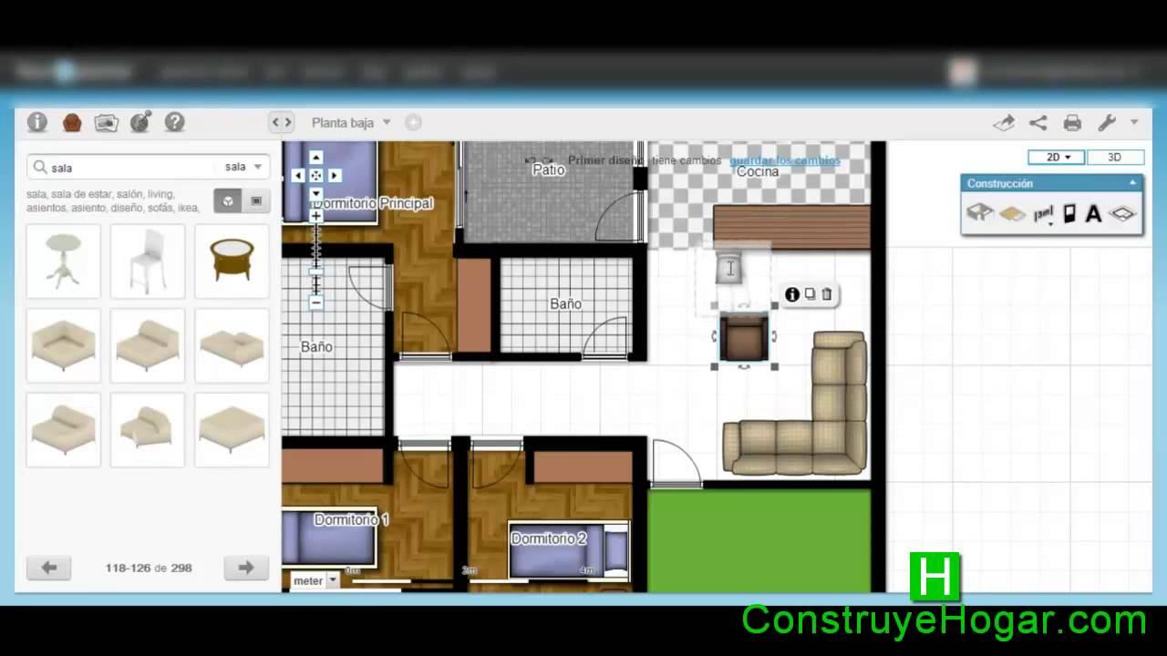 Como dise ar una casa paso a paso youtube for Programa para decorar habitaciones online