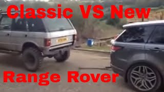 New VS Old - Range Rover - Tug of war