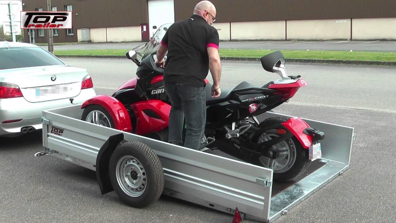 remorque moto basculante top trailer promotion 123 remorque. Black Bedroom Furniture Sets. Home Design Ideas
