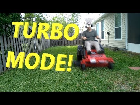 Mowing The Yard In Under 3 Minutes