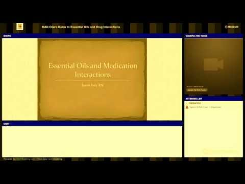 Essential Oils and Drug Interactions Webinar