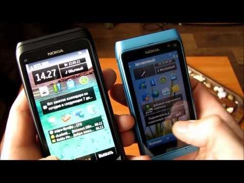 Nokia E7 против N8 [HD]