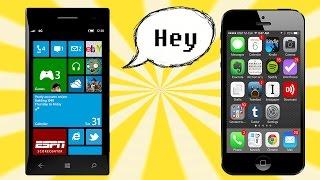 Cortana talks to Siri