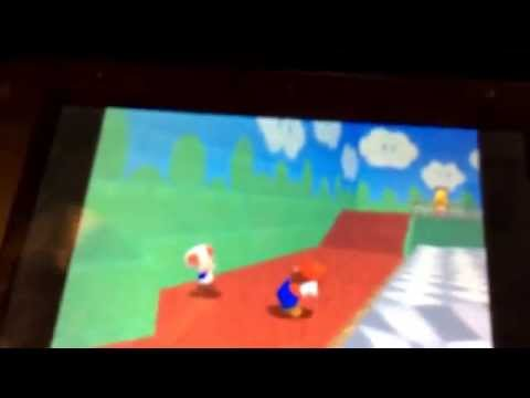 Mario points his butt at toad