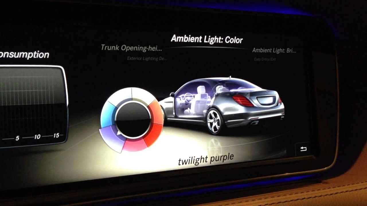 2014 S Class Ambient Light Show Youtube