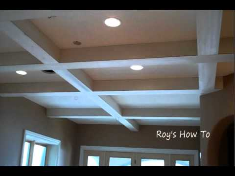 Installing Ceiling Beams And Crown Molding Youtube