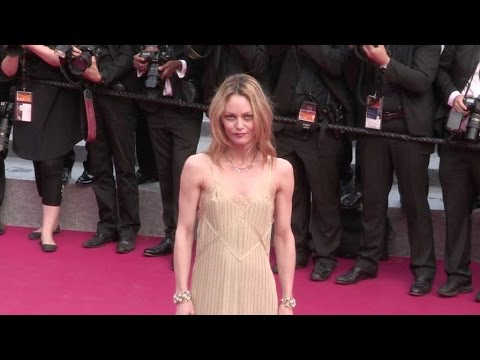 Jury member Vanessa Paradis on the red carpet for the Premiere of La Fille Inconnue in Cannes