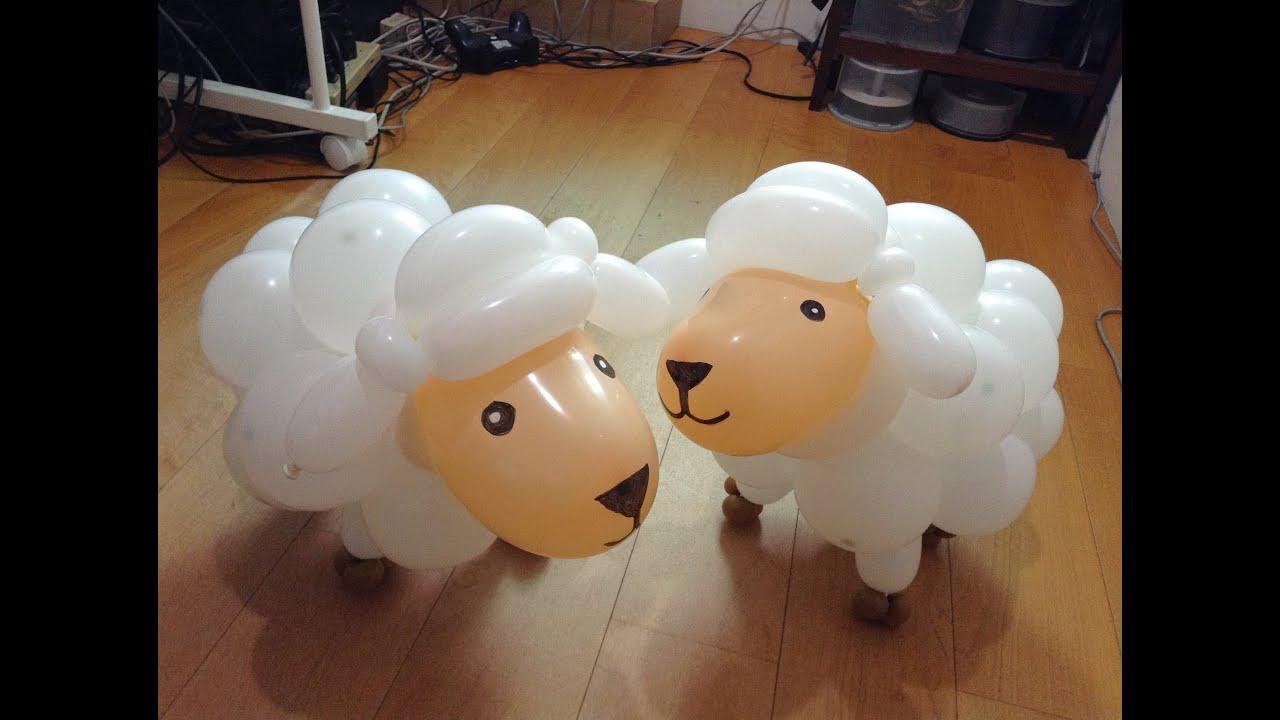 ɀ�型氣球 Ƕ�羊 Balloon Twisting Sheep Youtube