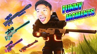 SNIPER SHOOTOUT FUNNY MOMENTS   NEW Heavy Sniper!   Fortnite Battle Royale Gameplay