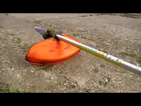 My Stihl FS 85 brushcutter with the brush blade/knife on