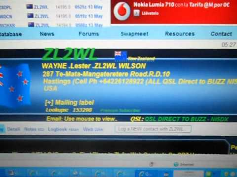 ZL2WL-mr Wayne-NEW ZEALAND-  5.36  UTC 13-May-2012-   20 METERS BAND