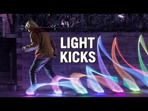 Light Kicks LED Shoe Light System from ThinkGeek
