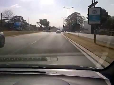 PORSCHE TEST DRIVE GONE WRONG - SOUTH AFRICA, WITKOPPEN ROAD.