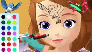 best games Sofia The First Tattoo  girls games 2019