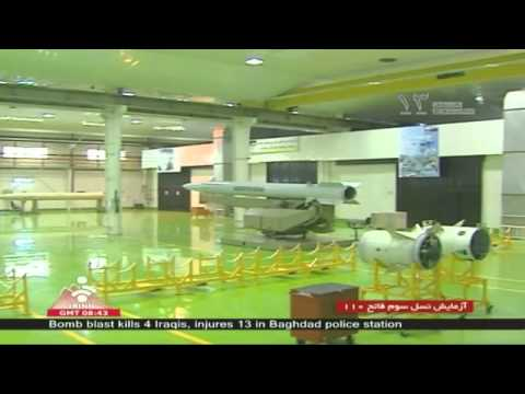 Fateh A-110 Iran Iranian made short range ballistic ground-to-ground missile army military power.flv