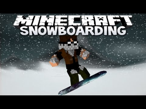 Minecraft: Snowboarding - THE FLYING SQUIDS ARE BACK! (Minecraft 1.4.7 Mini-Game)