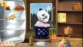 cùng nấu ăn với cô bé tí hon và chú gấu xiếc cho các bạn động vật ăn nhé