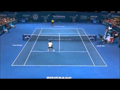 Roger Federer best points ATP Brisbane International 2014