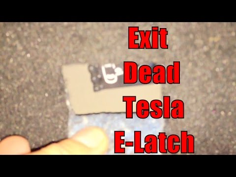 Tesla Model S -- Dead 12v Battery -- How to Exit Rear and Front Doors using Mechanical Lever