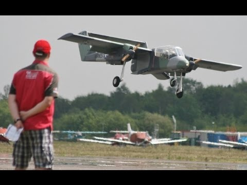 GIANT SCALE OV -10 BRONCO STEVE HOLLAND AT BLACKBUSHE RC MODEL AIRSHOW - 2014