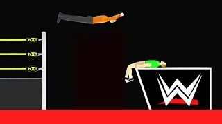 INSANE WWE TAKEDOWN! (Happy Wheels #74)