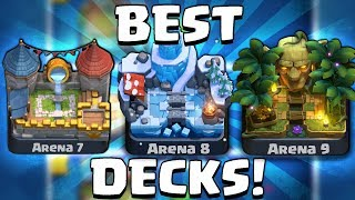 BEST BATTLE DECK FOR ARENA 7, 8 & 9! | Clash Royale | BEST DECK FOR NEW ARENA CHALLENGE!