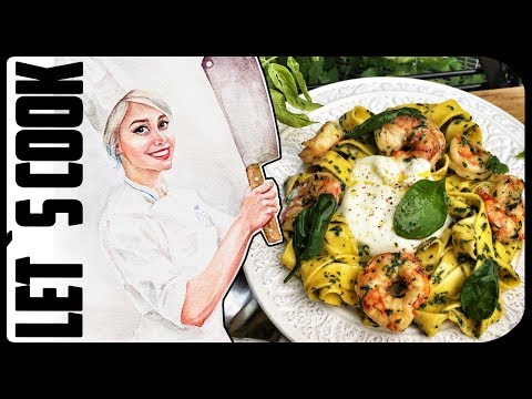 ✿ LET`S COOK ✿ Паста с креветками в сливочном соусе ♥