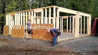 Building a Gambrel garage stage 1