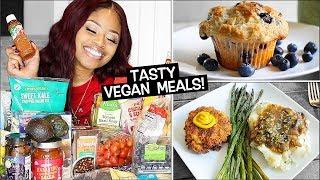 HUGE Aldi Grocery Haul + Bomb VEGAN Meal Ideas! 🙌
