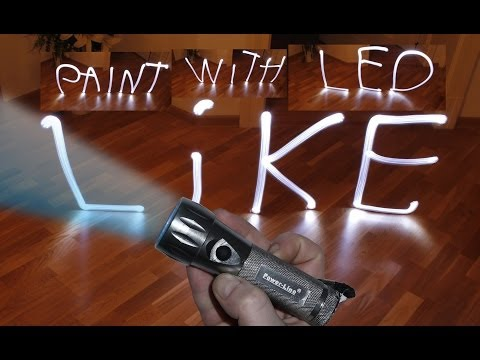 Paint with LED Tutorial Malen mit LED and Canon EOS 60 D