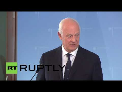 Germany: Syrian peace talks to be relaunched in August, says de Mistura