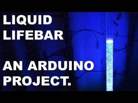 Liquid Lifebar, an Arduino project
