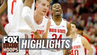Ohio State snaps four-game skid with dominant win over Nebraska | FOX COLLEGE HOOPS HIGHLIGHTS