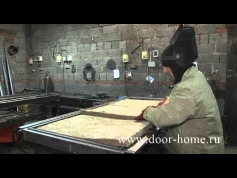 Видео изготовления металлических дверей своими руками видео