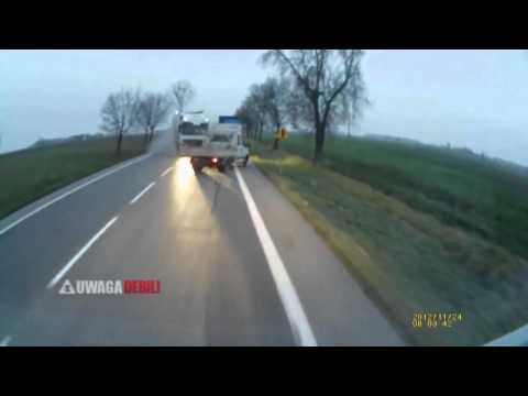 Wypadek - Wybuch opony w ciężarówce