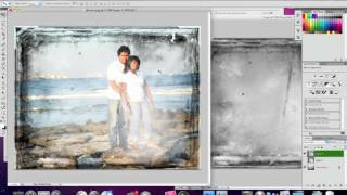 Photoshop tutorial how to add a background texture to a portrait in