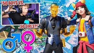 I got 50 GIRLS vs 50 BOYS to scrim for $100 in Fortnite... (craziest ending ever)