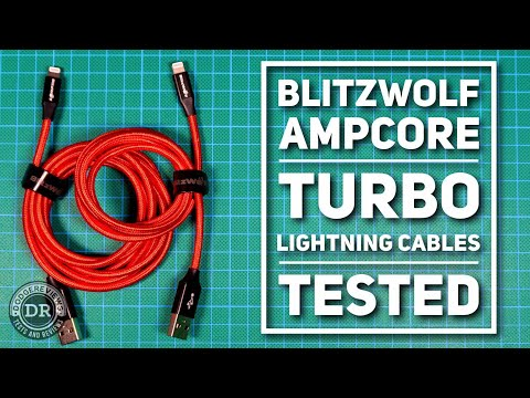 BlitzWolf Ampcore Plus/Turbo Lightning (BW-MF9/10) cables on the bench