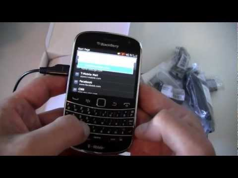 T-Mobile BlackBerry Bold 9900 Unboxing