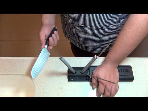 Reprofiling with Spyderco Sharpmaker Diamond Rods
