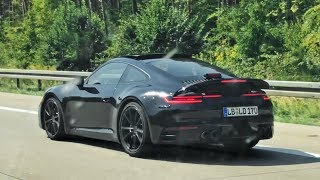 All New Porsche Carrera 992 Spotted on the Autobahn !