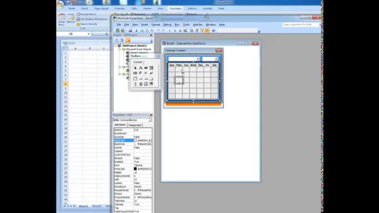 Calendar Date Picker Date Picker in Microsoft Excel